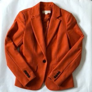 Michael Kors Wool Coat Blazer 4 Orange